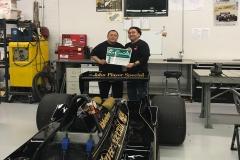 Ivan & Mario of La Comida with Mario Andretti Race Car